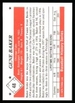 1979 TCMA The 50's #48   Gene Baker Back Thumbnail