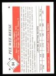 1979 TCMA The 50's #84   Pee Wee Reese Back Thumbnail