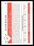 1979 TCMA The 50's #22  Hank Bauer  Back Thumbnail
