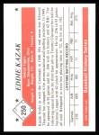 1979 TCMA The 50's #250   Eddie Kazak Back Thumbnail