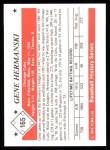 1979 TCMA The 50's #165   Gene Hermanski Back Thumbnail
