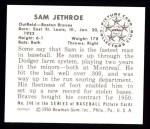 1950 Bowman Reprints #248   Sam Jethroe Back Thumbnail