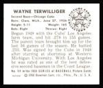 1950 Bowman Reprints #114   Wayne Terwilliger Back Thumbnail