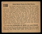 1938 Gum Inc. Horrors of War #110   Rebel Bomb Floods Air Raid Shelter Back Thumbnail