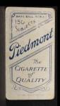 1909 T206 #45 POR Bill Bradley  Back Thumbnail