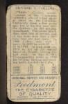 1911 T205 #37  Eddie Collins    Back Thumbnail