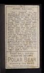 1911 T205 #194  Hippo Vaughn  Back Thumbnail