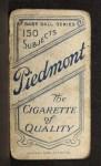 1909 T206 #87  Jack Chesbro  Back Thumbnail