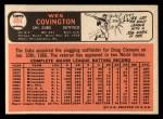 1966 Topps #484  Wes Covington  Back Thumbnail