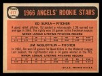 1966 #417   -  Jim McGlothlin / Ed Sukla Angels Rookies Back Thumbnail