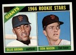 1966 Topps #524   -  Don Mason / Ollie Brown Giants Rookies Front Thumbnail