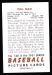 1951 Bowman Reprints #160  Phil Masi  Back Thumbnail