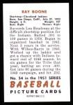 1951 Bowman Reprints #54  Ray Boone  Back Thumbnail