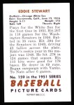 1951 Bowman Reprints #159   Ed Stewart Back Thumbnail