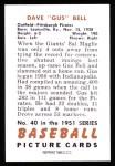1951 Bowman Reprints #40  Gus Bell  Back Thumbnail