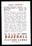 1951 Bowman Reprints #65  Mickey Vernon  Back Thumbnail