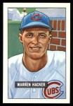 1951 Bowman Reprints #318  Warren Hacker  Front Thumbnail