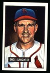 1951 Bowman Reprints #58  Enos Slaughter  Front Thumbnail