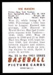 1951 Bowman Reprints #25  Vic Raschi  Back Thumbnail