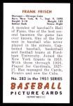1951 Bowman Reprints #282  Frankie Frisch   Back Thumbnail