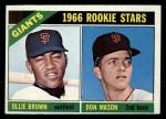 1966 Topps #524   -  Don Mason / Ollie Brown Giants Rookies Front Thumbnail