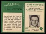 1966 Philadelphia #9  Guy Reese  Back Thumbnail