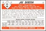 1953 Bowman Reprints #88   Joe Dobson Back Thumbnail