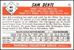 1953 Bowman Reprints #137   Sam Dente Back Thumbnail