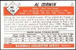 1953 Bowman Reprints #126   Al Corwin Back Thumbnail