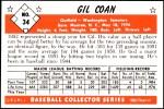 1953 Bowman Reprints #34   Gil Coan Back Thumbnail