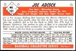 1953 Bowman Reprints #151  Joe Adcock  Back Thumbnail