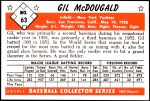 1953 Bowman Reprints #63   Gil McDougald Back Thumbnail