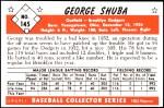 1953 Bowman Reprints #145   George Shuba Back Thumbnail