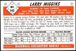 1953 Bowman Reprints #142   Larry Miggins Back Thumbnail
