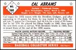 1953 Bowman Reprints #160   Cal Abrams Back Thumbnail