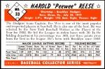 1953 Bowman Reprints #33   Pee Wee Reese Back Thumbnail