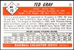 1953 Bowman Reprints #72  Ted Gray  Back Thumbnail