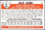 1953 Bowman Reprints #155  Allie Clark  Back Thumbnail