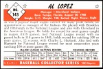 1953 Bowman Reprints #143   Al Lopez Back Thumbnail