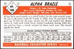 1953 Bowman Reprints #140   Al Brazle Back Thumbnail