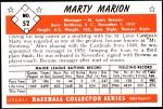 1953 Bowman Reprints #52   Marty Marion Back Thumbnail
