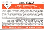 1953 Bowman Reprints #150  Carl Scheib  Back Thumbnail