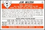 1953 Bowman Reprints #37  Jimmy Wilson  Back Thumbnail
