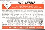 1953 Bowman Reprints #125   Fred Hatfield Back Thumbnail