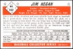1953 Bowman Reprints #102  Jim Hegan  Back Thumbnail