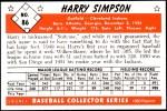 1953 Bowman Reprints #86   Harry Simpson Back Thumbnail