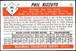 1953 Bowman Reprints #9  Phil Rizzuto  Back Thumbnail