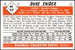 1953 Bowman Reprints #117  Duke Snider  Back Thumbnail