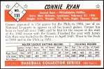 1953 Bowman Reprints #131   Connie Ryan Back Thumbnail