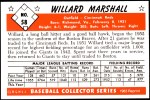 1953 Bowman Reprints #58  Willard Marshall  Back Thumbnail